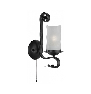 Бра Arte Lamp A7915AP-1BK SCROLL Е27 1х60Вт 230В